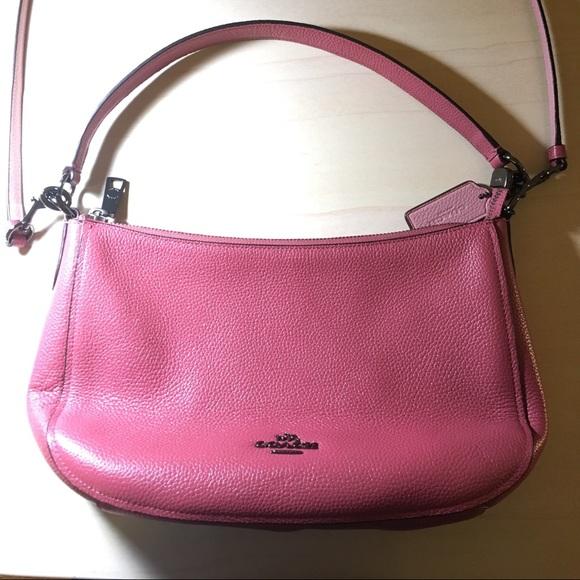 Coach Handbags - COACH Dusty Rose Pebble Leather Chelsea Crossbody ef55337263821
